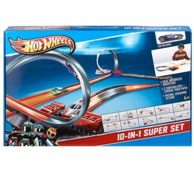 Трек Mattel Hot Wheels Y0267 Хот Вилс Супер набор 10 в 1